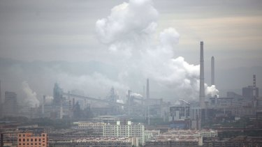 Emissions from a coal-fired power plant in Taiyuan, China.