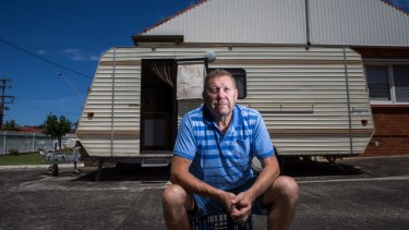 Following the riot, the former police officer quit the force and moved into a caravan in his parents' driveway.