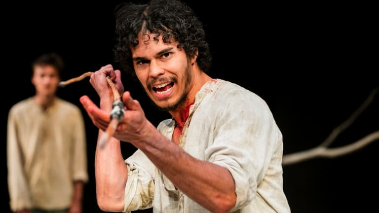 Will McDonald and Mark Coles Smith in The Drover's Wife.