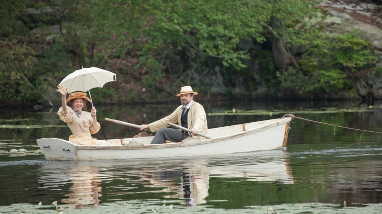 Annette Bening and Jon Tenney in The Seagull.