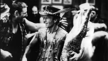 Paul Hogan as Mick Dundee in the 1986 blockbuster <i>Crocodile Dundee</i>. Its success in the US arguably helped pave the way for generations of Australian actors in Hollywood.