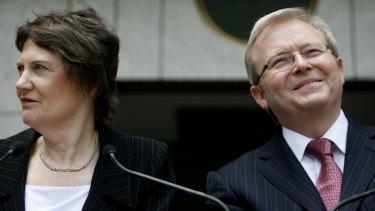 Helen Clark to Kevin Rudd in 2008.