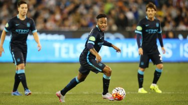 Champions Cup Manchester City's Raheem Sterling in action at the MCG.  Action Images via Reuters / Jason O'Brien Livepic