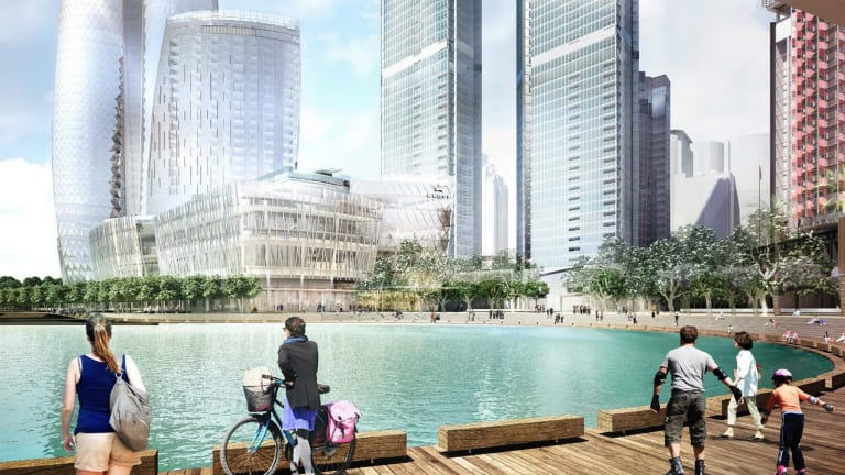 Artist's impression of the proposed Crown Sydney casino at Barangaroo