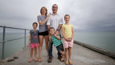Victorian Deputy Premier James Merlino with his wife Meagan and their children Emma, Josh and Sophie.