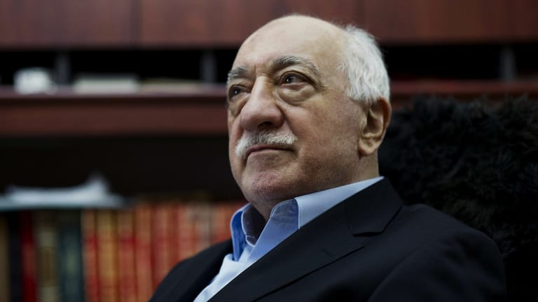 Turkish Muslim cleric Fethullah Gulen at his residence in Saylorsburg, Pennsylvania in 2014.