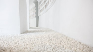 Nino Sarabutra's show-stealing installation of tiny skulls, <i>What Will You Leave Behind</i>.