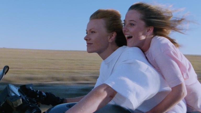 Asta (Deborra-Lee Furness) and Lizzie (Simone Buchanan) enjoy a happy moment.
