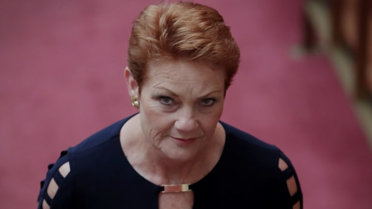 """Muslims want to impose Sharia law because they """"hate Western society,"""" Senator Pauline Hanson told the ABC."""
