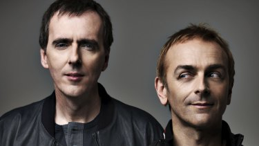 Underworld, Rick Smith (left) and Karl Hyde.
