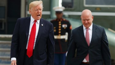 US President Donald Trump and National Security Adviser H.R. McMaster leave for Miami to announce changes to Cuba policy.