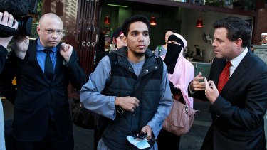 Junaid Thorne leaves court following an appearance in June.