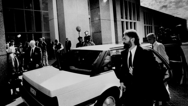 Phil Cleary on his first day in Parliament in 1992.