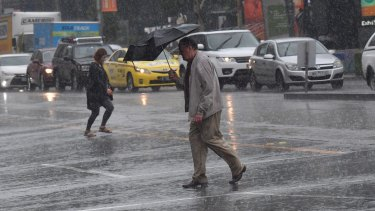 The rain is expected to be heavy until about 10am on Saturday.