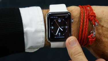 """The Apple Watch """"builds the digital world directly into your skin""""."""