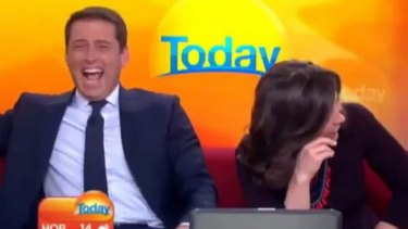"<i>Today</i>'s ""lovable rogue"" with co-host Lisa Wilkinson."