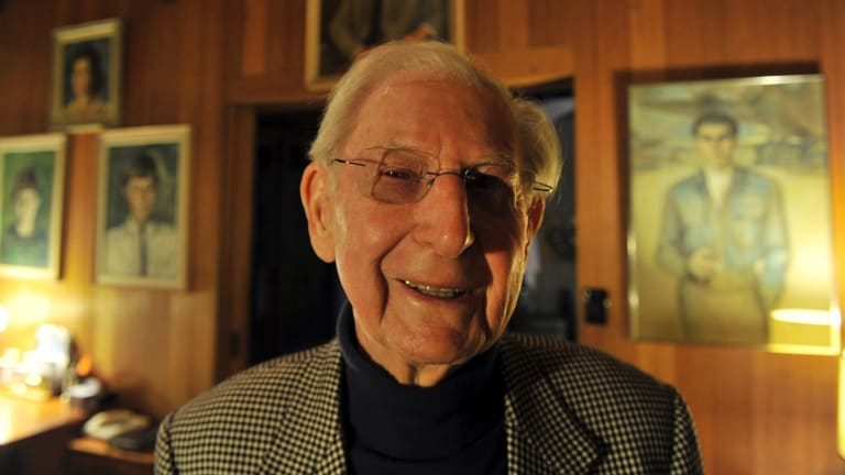 Peter Stuart Isaacson will be remembered as renowned Australia publisher, respected World War II pilot and man with a heart of gold. Picture by JOE ARMAO