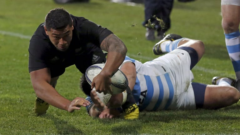 Single chance: Charles Piutau is calling for a chance to play for Tonga despite playing for the All Blacks 16 times.