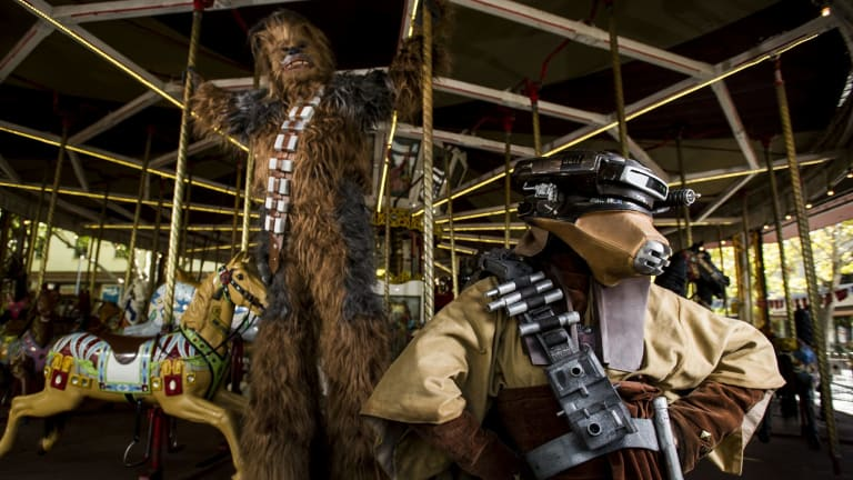 The Star Wars parody burlesque show, Empire Strips Back is on at Canberra Theatre, including a sexy Chewbacca and Boushh.