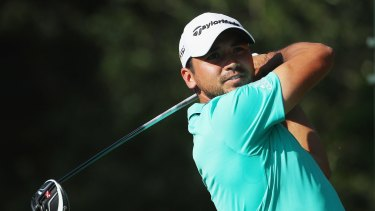 In the lead: Jason Day had a tough third round at Sawgrass making two double-bogeys in his first eight holes.