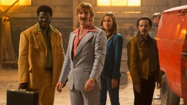 From left: Babou Ceesay, Sharlto Copley, Brie Larson and Noah Taylor.