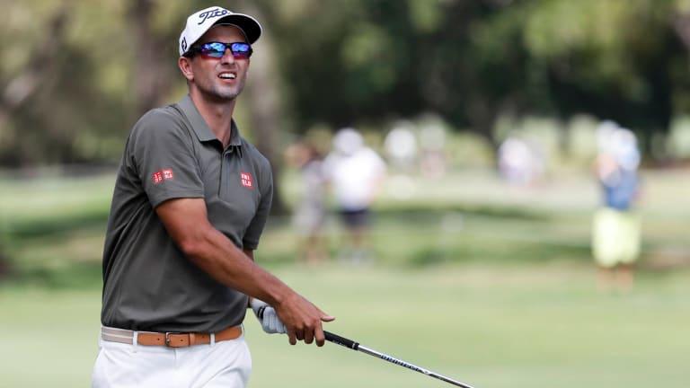Short weekend: Adam Scott failed to make the cut at the Australian PGA Championships.