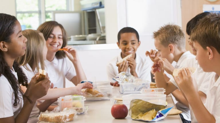 Children may be swayed towards buying cheaper, unhealthy food at the school canteen.
