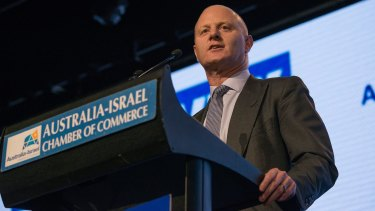 Commonwealth Bank of Australia chief executive Ian Narev speaking in Melbourne on Thursday.