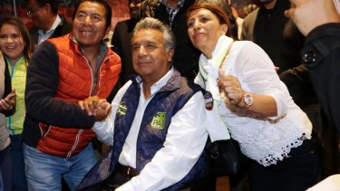Presidential candidate Lenin Moreno in Quito on Monday.