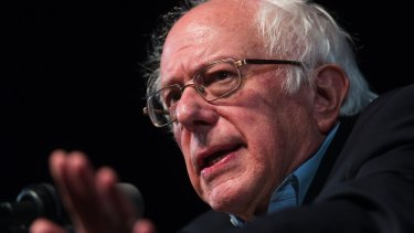 Pleased: Senator Bernie Sanders.
