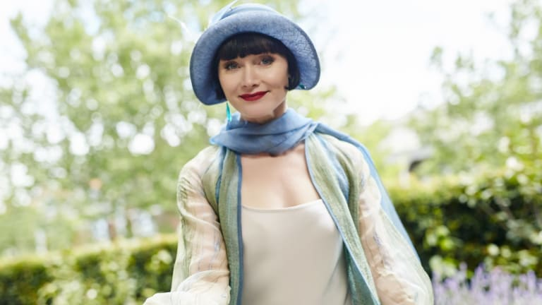 Essie Davis as Phryne Fisher in Miss Fisher's Murder Mysteries.