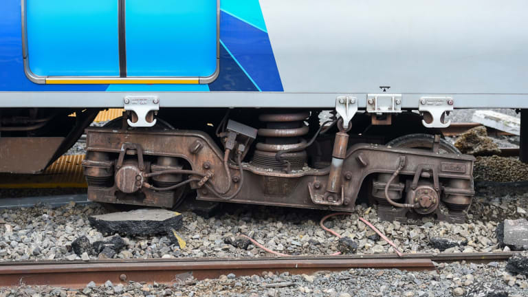 """The stolen train hit a """"derail block"""" which is designed to stop out-of-control rolling stock."""