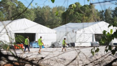 Almost 400 detainees are held on the island of Nauru.