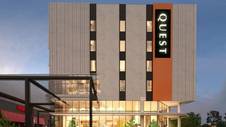 The new Quest hotel will open at the Pacific Epping Shopping Centre in 2018.
