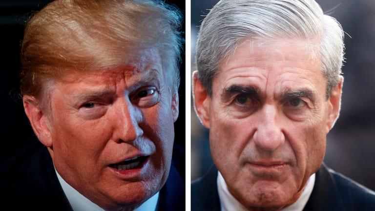 In the crosshairs: Donald Trump and Robert Mueller.
