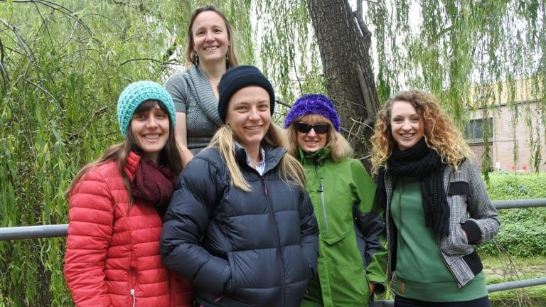 Role models: Nina McLean, Ida Kubiszewski, Merryn McKinnon, Deborah O'Connell and Charlie Hindle are preparing to go to Antarctica.