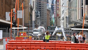 Much of George Street is to remain a construction zone well into next year.