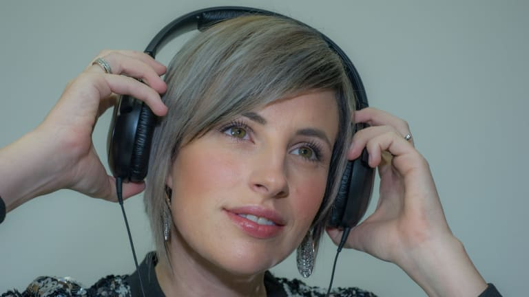 Canberra Telstra executive Amber Nichols is close to releasing her first album.