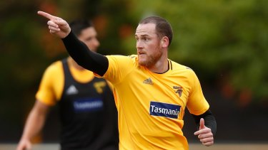 Jarryd Roughead will lead the Hawks in their first pre-season match on Friday night.
