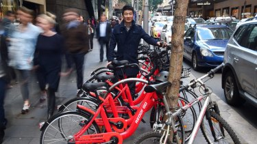 Reddy Go founder Donald Tang says the bike-sharing service will focus on densely populated parts of Sydney.