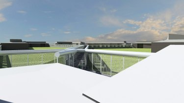 The prison's central movement control tower will be fortified in the planned upgrade.