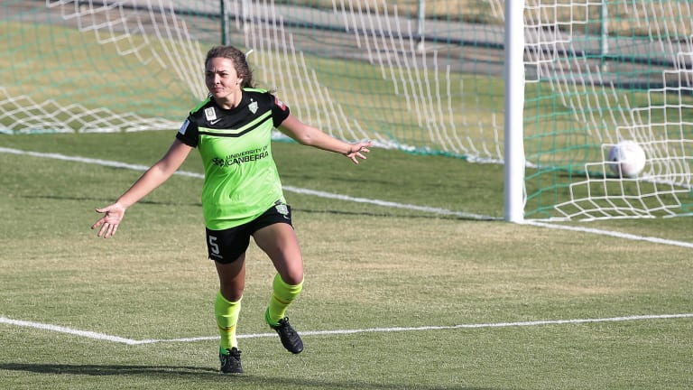 Big decision: Jenna McCormick remains passionate about playing soccer for Canberra United.