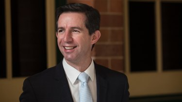 """Last week, Education Minister Simon Birmingham said a 2 per cent annual increase in wages for staff at the University of Queensland """"was in excess of community norms""""."""