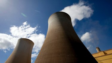 Cooling towers at Australia's most carbon-intensive major power plant, Hazelwood.