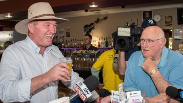 Barnaby Joyce retired to the pub after the High Court ruled he was ineligible to remain in Parliament.