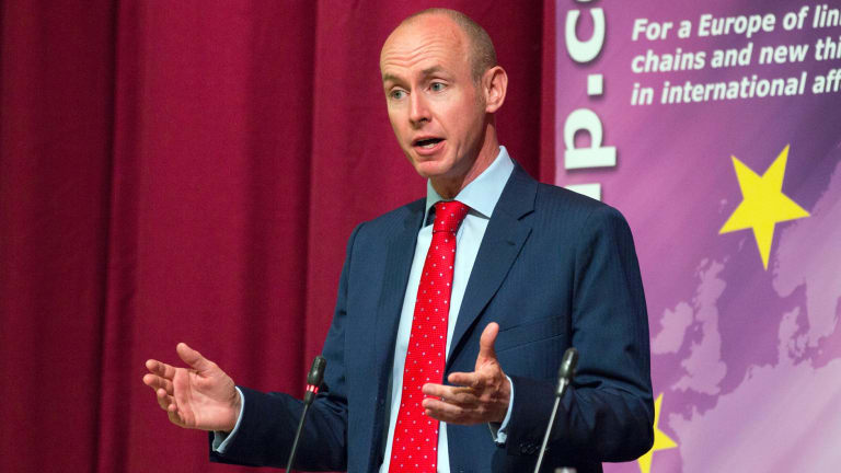 Tory MP Daniel Hannan at a pro-Brexit event in London this week.