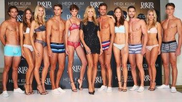 Bra tsar: Heidi Klum launching her Heidi Klum Intimates collection in Sydney.