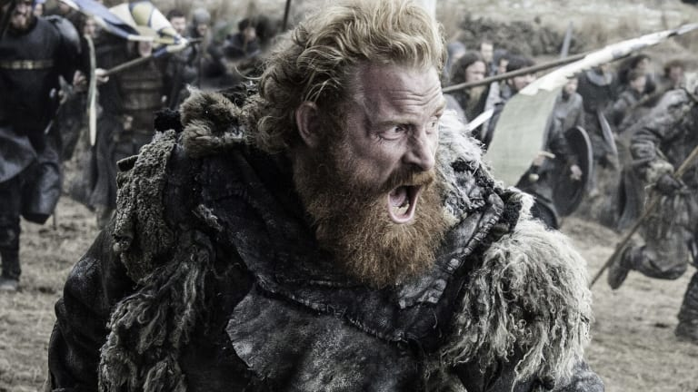 Tormund Giantsbane fighting against Ramsay Bolton's overwhelming forces