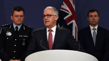 Prime Minister Malcolm Turnbull and Justice Minister Michael Keenan have been working on new counter-terrorism law proposals with police.