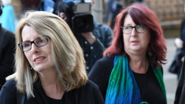 Glen Turner's wife Alison McKenzie (left), with his sister Fran Pearce, agreed to the documentary because 'she doesn't want Glen's memory to be lost'.